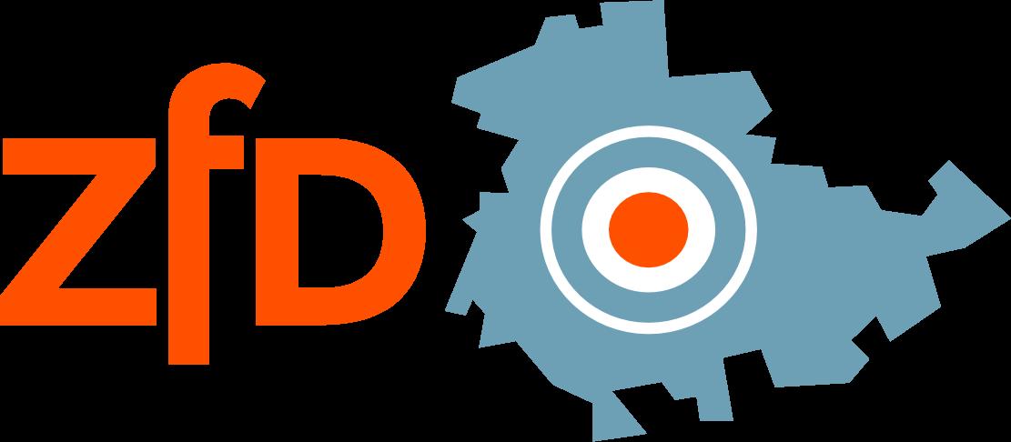 Logo ZFD, Zentrum für Distanzierungsarbeit