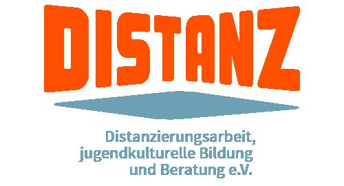 Logo Distanz e.V. mit Subzeile: Distanzierungsarbeit, Jugendkulturelle Bildung und Beratung e.V.