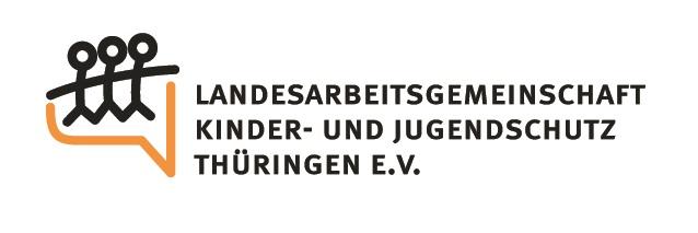 """Logo Landesarbeitsgemeinschaft """"Kinder- und Jugendschutz"""" Thüringen e.V."""
